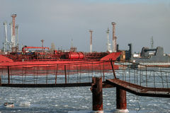 Tanker in Chornomorsk Royalty Free Stock Image