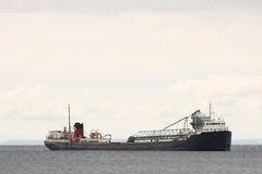 Tanker crosses lake ontario. Shipping boat on lake ontario Royalty Free Stock Images