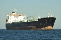Tanker crude oil carrier ship stock image