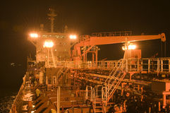 Tanker crude oil carrier ship Stock Image