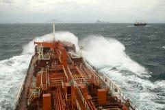 Tanker crude oil carrier ship. Tanker carrier ship designed for transporting crude oil Royalty Free Stock Photo
