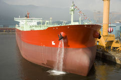 Tanker crude oil carrier ship. Tanker carrier ship designed for transporting crude oil Stock Image