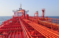 Tanker crude oil carrier ship Stock Images