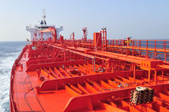 Tanker crude oil carrier ship. Designed for transporting natural gas Royalty Free Stock Photography