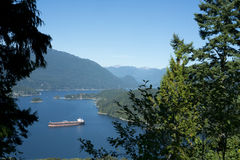 Oil tanker in Burrard Inlet Royalty Free Stock Images