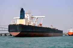Tanker docked at the pier Royalty Free Stock Image
