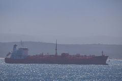 Tanker docking near harbor Stock Photos