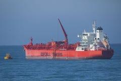 Tanker docking near harbor Stock Photography
