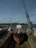 Tanker in Drydock Royalty Free Stock Photo