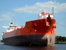 Tanker entering the port. Gdansk in Poland Royalty Free Stock Photo