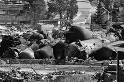 Tanker explodiert Stockfotografie