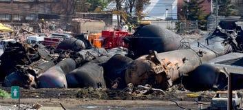 Tanker explodiert Stockfotos
