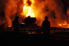 Tanker Fire Royalty Free Stock Image