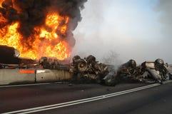 Tanker Fire Stock Image