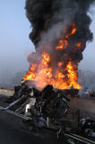 Tanker Fire Stock Images
