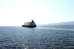 Tanker floating on sea Stock Photography