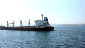 Tanker floating on sea stock video footage