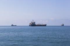 Tanker - het bunkering RN Stier royalty-vrije stock foto's