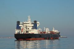 Tanker on the high seas. Big tanker on the high seas - general view Stock Image