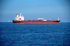 Tanker on the high seas Stock Images