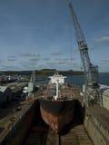 Tanker im Drydock Lizenzfreies Stockfoto