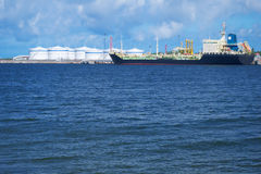 Tanker In Port Royalty Free Stock Image