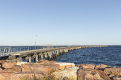 Tanker Jetty into the Ocean Royalty Free Stock Images