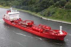 Tanker on Kiel Canal Stock Images