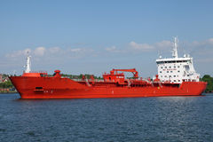 Tanker on Kiel Canal Royalty Free Stock Photography