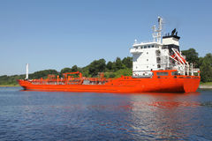 Tanker on Kiel Canal Stock Photography