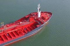 Tanker on Kiel canal Stock Photos