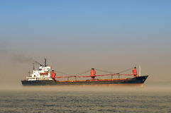 Tanker In Misty Waters Stock Photography