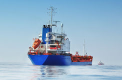 Tanker in the ocean Royalty Free Stock Photography