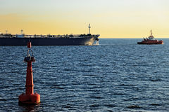 The tanker out to sea Royalty Free Stock Images