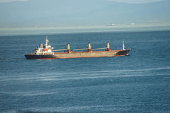 Tanker passes Istanbul Royalty Free Stock Image