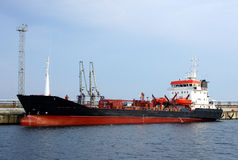 Tanker in port Stock Photo