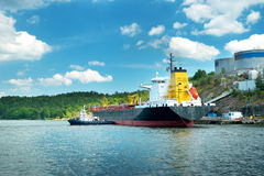 Tanker in the port in Sweden Stock Photography