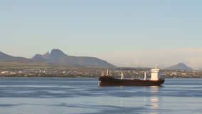 Tanker on raid. Mauritius stock video