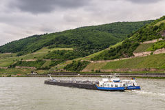 Tanker on the Rhine River Royalty Free Stock Images