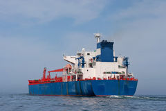 Tanker sailing in the sea Royalty Free Stock Image