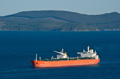 Tanker Sanar-7 anchored in the roads. Nakhodka Bay. East (Japan) Sea. 17.09.2014 Royalty Free Stock Image