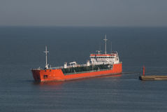 The tanker in the sea Stock Images