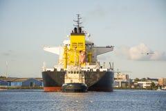 Tanker Seasprat is shifting to the Eurotank. Stock Images