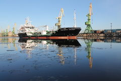 Tanker in the seaway. Tanker - KM* Ice3 AUT3 oil tanker(ESP Royalty Free Stock Photo