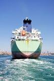 Tanker ship. Back of the large tanker ship Stock Photo