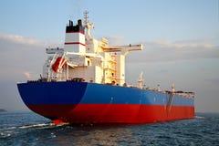 Tanker ship. Large tanker ship moves in Bosporus Royalty Free Stock Image