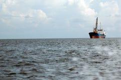Tanker ship. A tanker ship was sailing at sea Royalty Free Stock Images