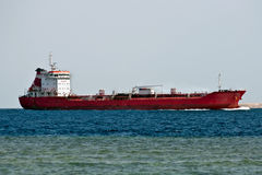 Tanker ship. In the Red sea Stock Image