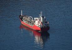 Tanker ship. Anchoring in Mediterranean Sea, Spain Royalty Free Stock Image