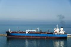 Tanker Ship in Civitavecchia port Royalty Free Stock Photo